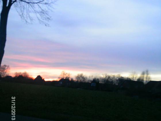 Sonnenuntergang in unserem Dorf