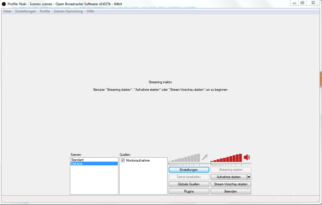 How To Desktop Aufnahme Open Broadcaster Software